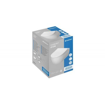 Geberit iCon CombiPack hangend toilet Rimfree met softclose- en quick release-toiletzitting en verdekte bevestiging, wit
