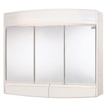 Differnz Topas-eco spiegelkast 3-deurs 60 x 18 x 53 cm, wit