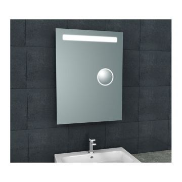 Tigris spiegel met LED verlichting & scheerspiegel 60 x 80 cm