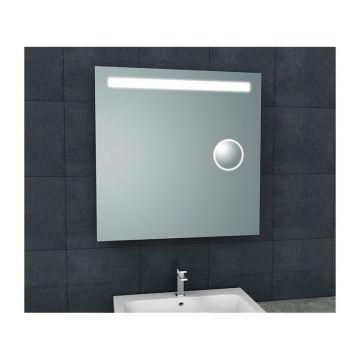 Tigris spiegel met LED verlichting & scheerspiegel 80 x 80 cm