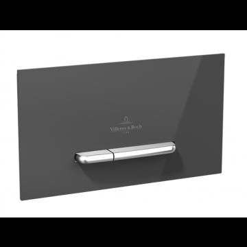 Villeroy & Boch Viconnect bedieningsplaat M300 DF frontbediend 25.3x14.5cm glas grijs/RVS