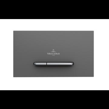 Villeroy & Boch Viconnect bedieningsplaat E300 DF frontbediend 25.3x14.5cm kunststof antraciet/matchroom