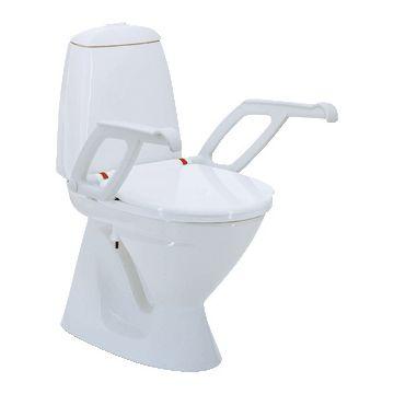 Invacare Aquatec 90000 toiletverhoger + 6cm met deksel en armleuning, wit 831111