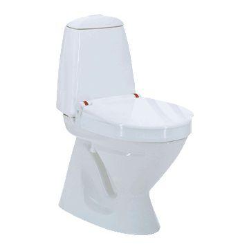 Invacare Aquatec 90000 toiletverhoger + 6cm m. deksel zonder armleuning wit 831011