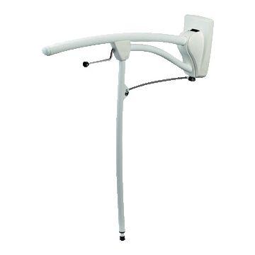 Revato toiletbeugel m. rol m. steun 60cm wit/wit