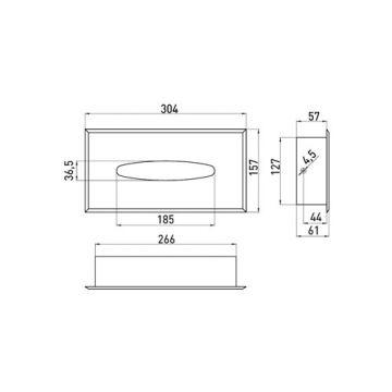 Emco System 2 inbouw tissuebox chroom