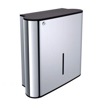 Emco System 2 dispenser v. papieren handdoeken chroom/zwart