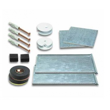 Plieger Safemax 16 verdekte ophangset voor spiegel m. magneetbevestiging 20x10cm tot max. 1,6 m2