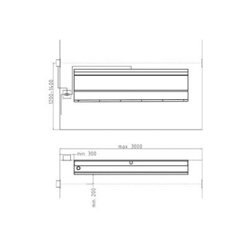 Intra spoelunit urinegoot, 230V/HZ