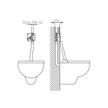 Intra spoelunit toilet, piezo 24V DC