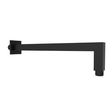 Plieger Napoli vierkante douchearm wandmontage 33 cm, mat zwart