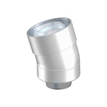 Ubbink UbiFit rookgasafvoer-, luchttoevoerbocht 60/100mm 15° PP/KS, concentrisch wit