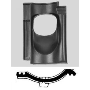 Ubbink dakdoorvoerpan kunststof 131mm 25-45° VH 1-pans
