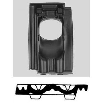 Ubbink dakdoorvoerpan kunststof 131mm 25-45° mulden 1-pans