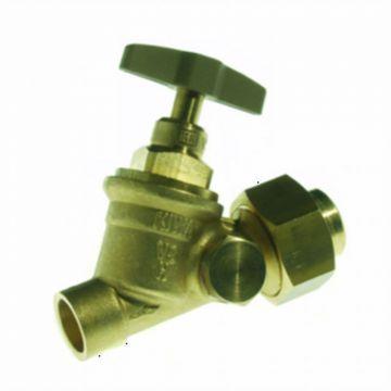 VSH stopkraan m. koppeling en aftapgelegenheid capillair 35mm
