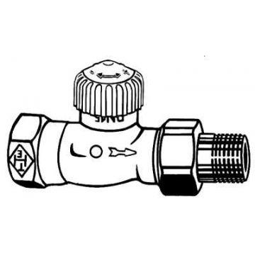 """IMI Heimeier V-exact II thermostatisch ventiel instelbaar recht 3/4"""" 371203000"""