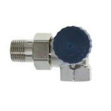 """IMI Heimeier thermostatische radiatorafsluiter dubbel haaks rechts 3/8"""" Kvs = 1,50 m3/h lage weerstand"""