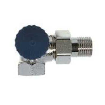 """IMI Heimeier thermostatische radiatorafsluiter dubbel haaks links 3/8"""" Kvs = 1,50 m3/h lage weerstand"""