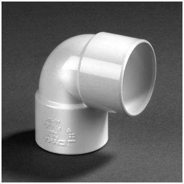 Dyka PVC bocht 90° mof/mof 50mm wit