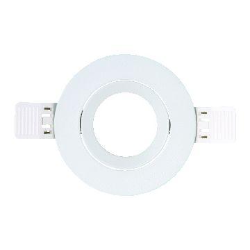 Interlight frame rond IP20 t.b.v. LED module MR16 90mm kantelbaar wit ILF90RW