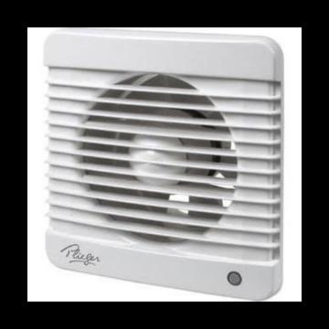 Plieger ventilator basic 98m³  Ø100mm m. timer wit