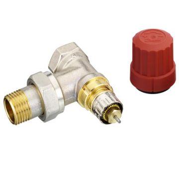 """Danfoss thermostatische radiatorafsluiter m. voorinstelling haaks 1/2"""" Kvs=0,90 m3/h - RA-N15"""