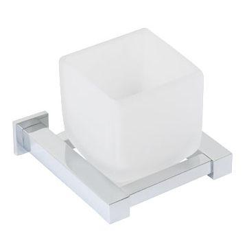 Plieger Cube bekerhouder, met (mat)glas, chroom