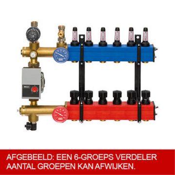 Komfort SBK 4803 verdeler vloerverwarming bovenaansluiting m. energiezuinige A-label pomp 12-groeps
