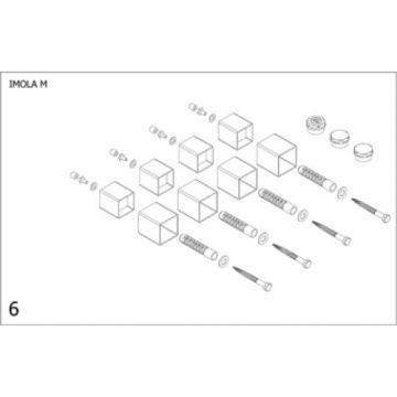Plieger bevestigingsset designradiator Imola M wit (RAL9016)