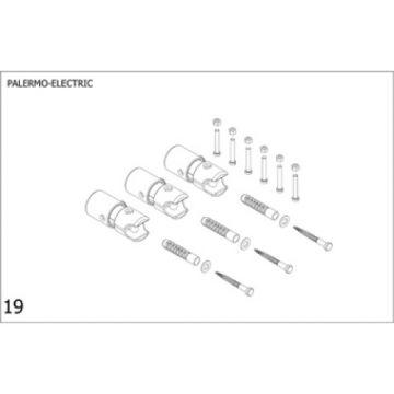 Plieger bevestigingsset designradiator Palermo elektrisch wit (RAL9016)