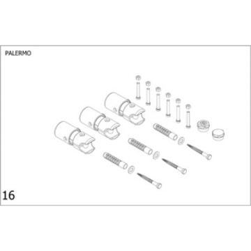 Plieger bevestigingsset designradiator chroom