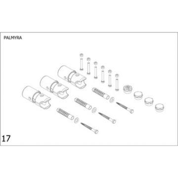 Plieger bevestigingsset designradiator Palmyra wit (RAL9016)