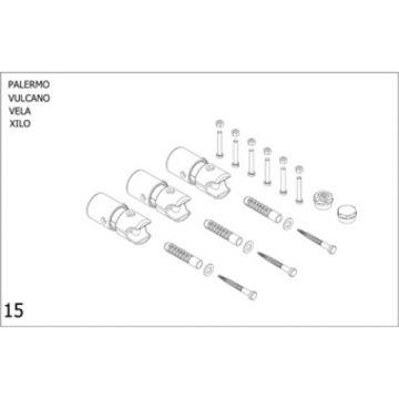Plieger bevestigingsset designradiator Palermo-Vulcano-Vela-Xilo wit (RAL9016)