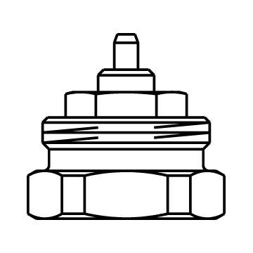 Oventrop adapter aansluiting M30x1.0 naar M30x1.5