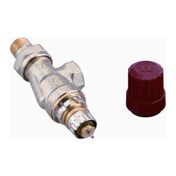 """Danfoss thermostatische radiatorafsluiter haaks verkeerd 3/8"""" Kvs = 0,65 m3/h - RA-N10"""