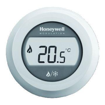 Honeywell Round kamerthermostaat verwarmen/koelen 24V Round Modulation wit