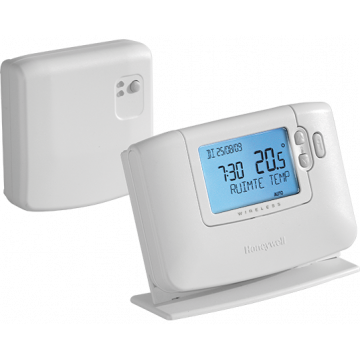 Honeywell Chronotherm klokthermostaat draadloos 24-230V 24-230V wit