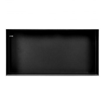 Looox Colour box inbouwnis 60x30 cm. mat zwart, mat zwart