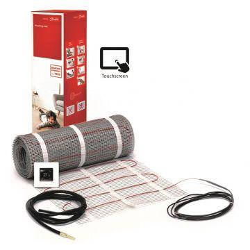Danfoss ECmat™ 150T elektrische vloerverwarming set met DEVlreg™ Touch 10m², 1500w