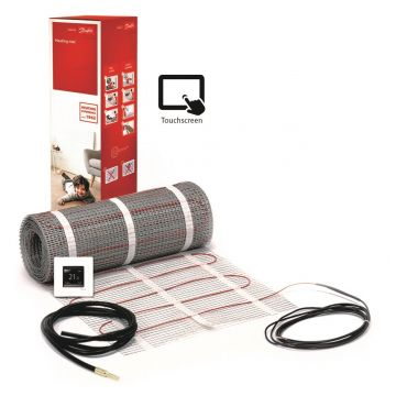 Danfoss ECmat™ 150T elektrische vloerverwarming set met DEVlreg™ Touch 3,5m², 525w