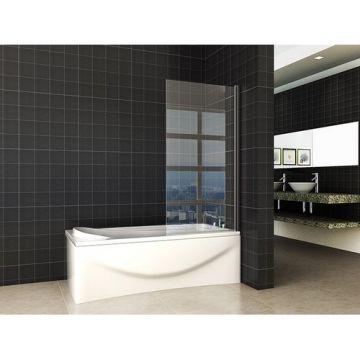 Orbit draaibare badwand 800 x 1400 6mm NANO mat zwart