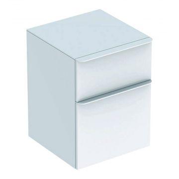 Geberit Smyle Square lage kast 45 cm met 2 laden, glans wit
