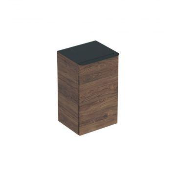 Geberit Smyle Square zijkast 36 cm met 1 deur links, noten hickory