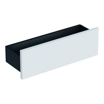 Geberit Smyle Square planchet 45 cm, lava/glans wit