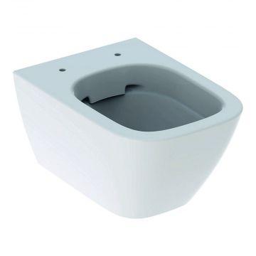 Geberit Smyle Square hangend toilet compact rimfree KeraTect, wit