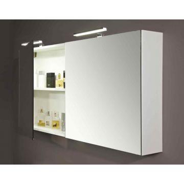 Sub 112 spiegelkast 90cmm 2 deuren zonder verlichting wit, wit