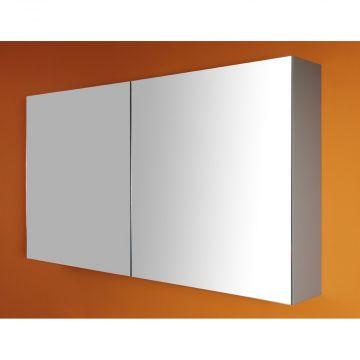 Sub 112 spiegelkast 60 cm deur re. zonder verlichting wit, wit
