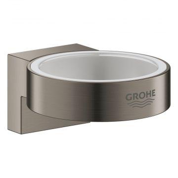 GROHE Selection wandhouder voor glas- en zeepdispenser, zonder glas, hard graphite geborsteld