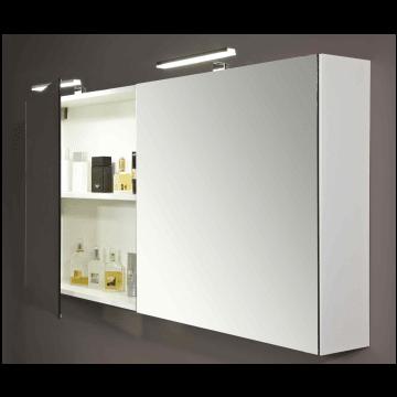 Sub 112 basic spiegelkast 80 cm. wit, wit