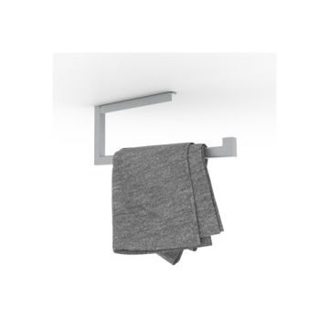 Looox Roll handdoekhouder 1-delig geborsteld rvs, geborsteld rvs